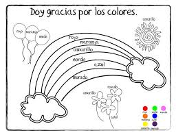 spanish colors printable coloring pages free coloring pages