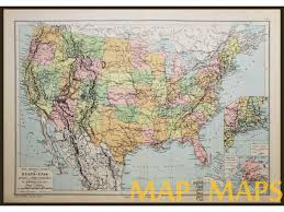 map of united states canada united states canada mexico alaska antique map 1890 map and maps