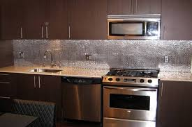 kitchens with stainless steel backsplash lowes stainless steel backsplash home designs idea