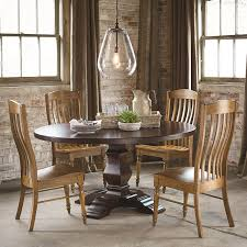Bassett Bench Made Four Person Round Tavern Table Set Dunk - Bassett dining room