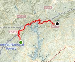 foothills trail through hike south carolina maps 51 photos