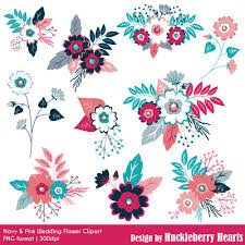 wedding flowers clipart navy and pink wedding flowers clipart huckleberry hearts