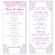 wedding programs printable shop purple wedding programs on wanelo