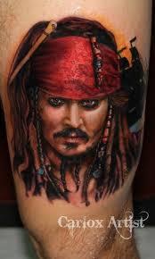 great jack sparrow portrait tattoo tattooimages biz