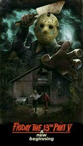 friday the 13 part 5 horror movie poster slasher horror fan