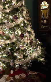 silver tree garlands happy holidays