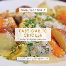 Chicken Main Dish - easy garlic chicken freezer to crockpot one pot meal