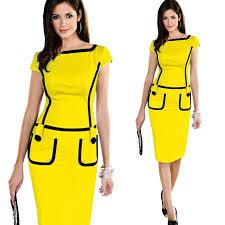 new 2016 women dress pocket design office work wear dress short