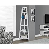 Lyss 5 Tier Corner Ladder by Amazon Com Lyss 5 Tier Corner Ladder Bookcase Shelf In White