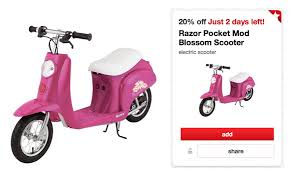 target razor scooter black friday target razor pocket mod blossom electric scooter only 72