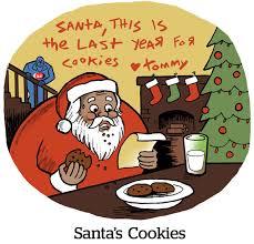 comic santa s cookies adexchanger