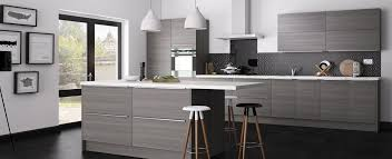 kitchen glossy grey cabinets grey brick kitchen backsplash grey