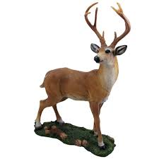 Animal Figurines Home Decor by Amazon Com Decorative Big Buck Statue In Rustic Lodge Sculptures