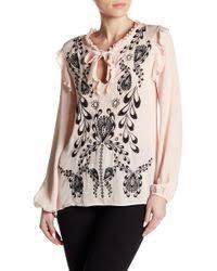 cynthia rowley blouse lyst shop s cynthia rowley tops from 20