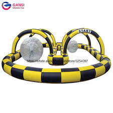 Outdoor Inflatables Portable Outdoor Kart Racing Trace Inflatables Go Karts