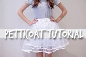 how to make a petticoat petticoat tutorial