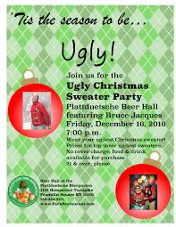 upcoming events ugly christmas sweater party with bruce jacques