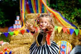 backyard carnival birthday session still frames photography