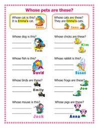 possessive adjectives u0026 pronouns 1 places to visit pinterest