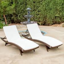 Cushions For Outdoor Chaise Lounges Christopher Knight Home Outdoor Brown Wicker Adjustable Chaise