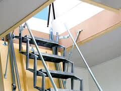 scissor stair roof access with gorter scissor stairs