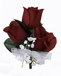 where to buy corsages for prom burgundy silk corsage wedding corsage prom