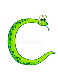 snake in the form of the letter c stock images image 11571974