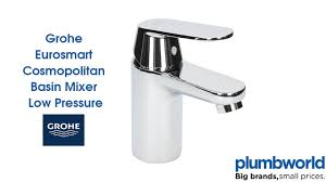 grohe eurosmart cosmopolitan basin mixer low pressure plumbworld