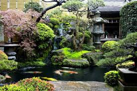 backyard japanese water garden with ornaments splendid japanese