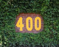 400 Feet by Wrigley Field Ivy Center Field Sign At 400 Feet Chicago Cubs