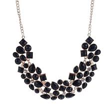 black necklace images Buy shining diva fashion black metal choker necklace for women jpg