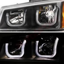 2004 chevy silverado led tail lights chevy silverado 2500 2003 2004 black led drl headlights set led tail
