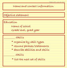 Resume Catch Phrases Resumes For High Students U2013 Sweet Careers Consulting