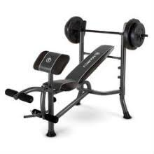 Olympic Bench Set With Weights Strength Training Equipment Modells Com