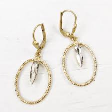 oval hoop earrings catherine popesco small textured oval hoop earrings with