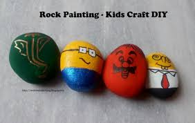 alive n kicking rock painting kids craft diy