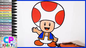 toad from super mario coloring pages part 2 super mario coloring