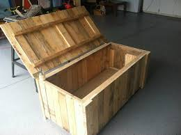 Build Wood Toy Box by Storage Deck Box From Pallet Wood My Completed Diy Projects