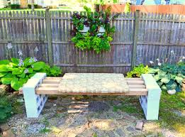 Concrete Garden Bench Make A Bench With No Tools Supplies Needed 12 Cement Blocks 4