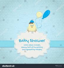 Babyshower Invitation Card Baby Shower Invitation Card Cute Stock Vector 630943418