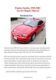28 pontiac sunfire 1995 2001 service repair manual 2001