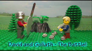 lego bible story david and goliath youtube