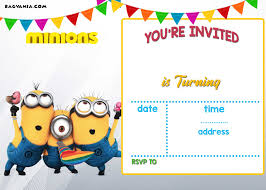 birthday party invitations free printable minion birthday party invitations ideas template