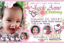 layout design for christening awesome design for invitation hello kitty template for christening