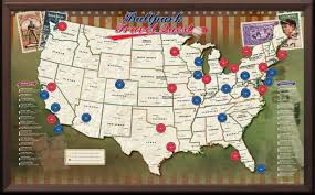 Map Poster Usa Baseball Push Pin Map Framed And Personalized From Onlyglobes