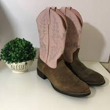 womens pink cowboy boots size 9 s pink ariat cowboy boots on poshmark