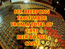 beer cap table top beer bottle cap beerpong table youtube