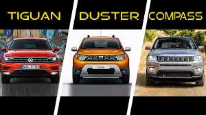 jeep volkswagen 2017 volkswagen tiguan vs 2018 dacia duster vs 2017 jeep compass