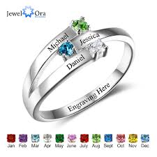 family ring family ring personalized jewelry engrave name custom birthstone
