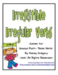 irresistible irregular verbs 2nd 4th grade worksheet lesson planet